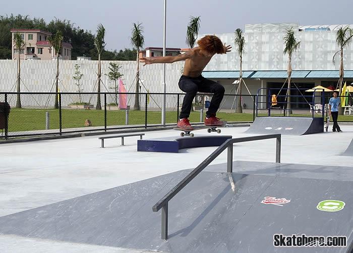 广州长洲岛滑板比赛