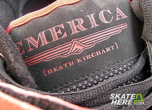 带有z字型胎面花纹的400 nbs纯胶鞋底是emerica板鞋普遍使用的一种